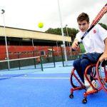 Martín campione di tennis in carrozzina
